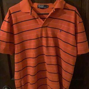 Mens Large Orange Ralph Lauren Polo Shirt
